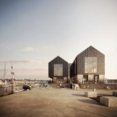 Image from May 2017: View of South Quay head - phase 2 of the South Quay development in Hayle by Feilden Clegg Bradley Studios  Source:Forbes Massie